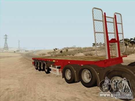 MAN TGX 8 x 4 trailer for GTA San Andreas left view