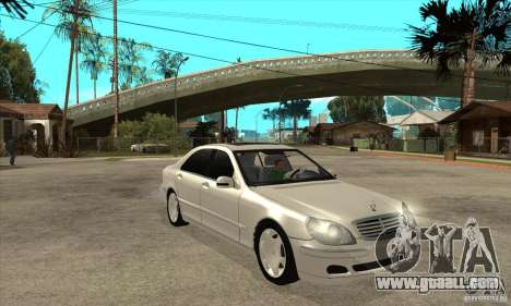 Mercedes Benz S600 for GTA San Andreas back view