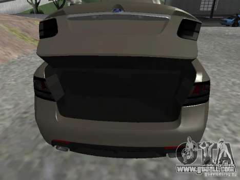 Saab 9-3 Turbo X for GTA San Andreas back view