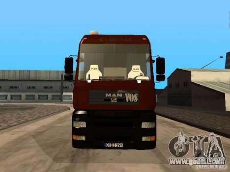 MAN TGA Vos Logistics for GTA San Andreas left view