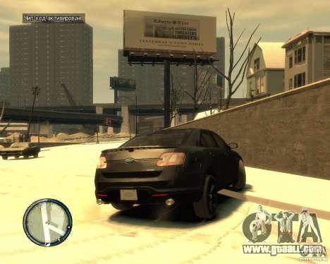 Ford Taurus Police Interceptor Stealth for GTA 4 back left view