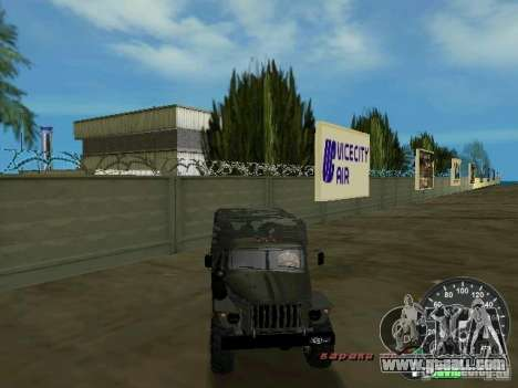 Ural 4320 Military for GTA Vice City upper view