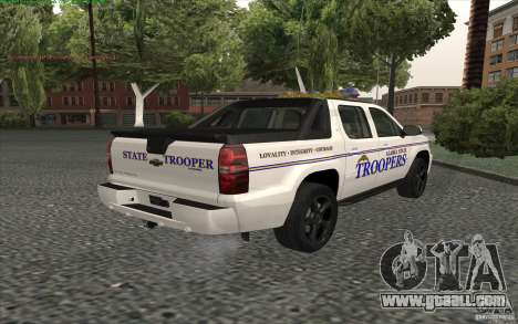 Chevrolet Avalanche Police for GTA San Andreas left view