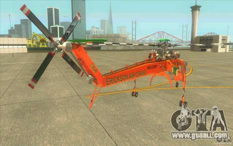Sikorsky Air-Crane S-64E for GTA San Andreas back left view