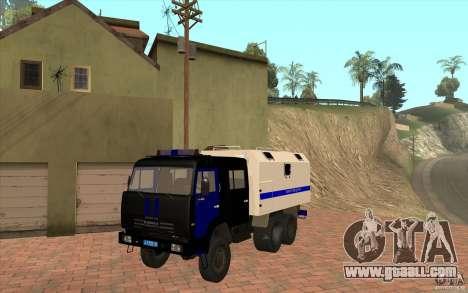 Kamaz Police for GTA San Andreas left view