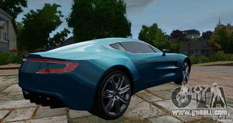 Aston Martin One-77 2012 for GTA 4 back left view