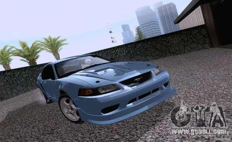 Ford Mustang SVT Cobra 2003 White wheels for GTA San Andreas left view