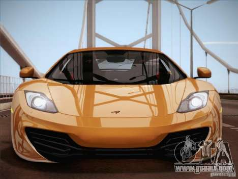 McLaren MP4-12C BETA for GTA San Andreas interior