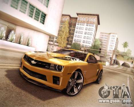 Chevrolet Camaro 2SS 2012 Bumblebee v.2.0 for GTA San Andreas inner view