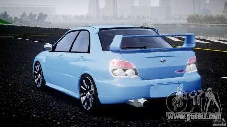 Subaru Impreza STI for GTA 4 back left view