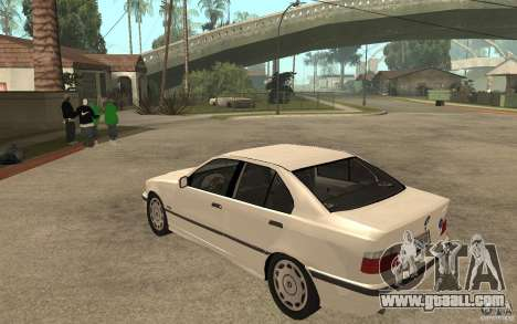 BMW 320i E36 for GTA San Andreas back left view