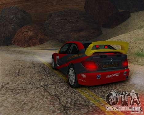 Citroen Xsara 4x4 T16 for GTA San Andreas back left view