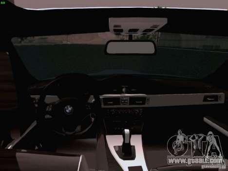 BMW M3 E90 Sedan 2009 for GTA San Andreas inner view