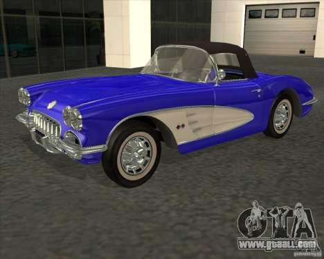 Chevrolet Corvette 1959 for GTA San Andreas