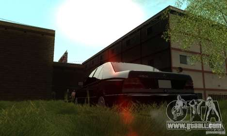 Mercedes-Benz 400 SE w140 Deputat Style for GTA San Andreas inner view