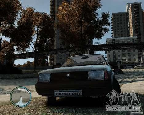 AZLK Moskvich 2141 for GTA 4 back left view