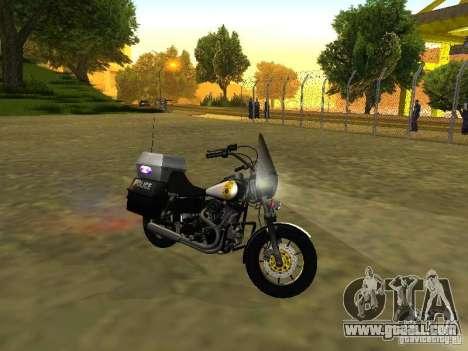 Harley Davidson Dyna Defender for GTA San Andreas left view
