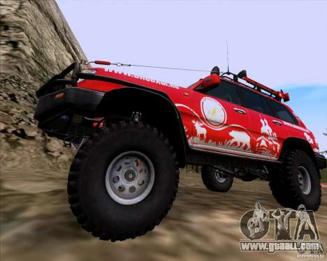 Toyota Land Cruiser 100 Off-Road for GTA San Andreas back view