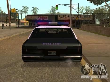 Police Los Santos for GTA San Andreas back left view