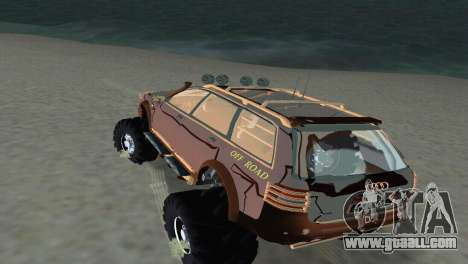 Audi Allroad Offroader for GTA Vice City back view