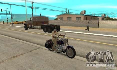 Harley Davidson FLSTF (Fat Boy) v2.0 Skin 4 for GTA San Andreas right view