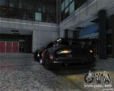 SRT Viper GTS-R V1.0 for GTA San Andreas back view