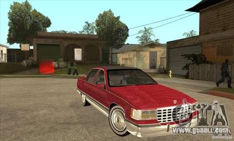 Cadillac Fleetwood 1993 for GTA San Andreas back view
