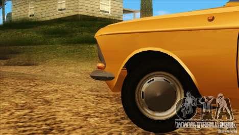 Moskvich 412 v2.0 for GTA San Andreas upper view