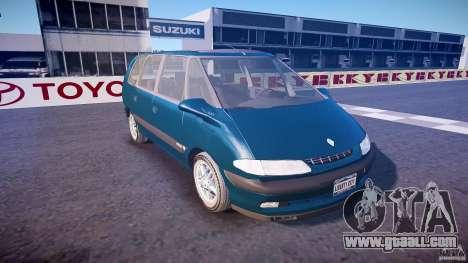 Renault Grand Espace III for GTA 4 inner view