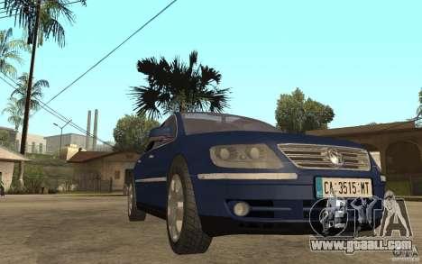 Volkswagen Phaeton 2005 for GTA San Andreas back view