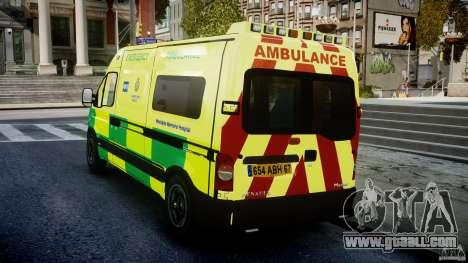 Renault Master 2007 Ambulance Scottish for GTA 4 back left view
