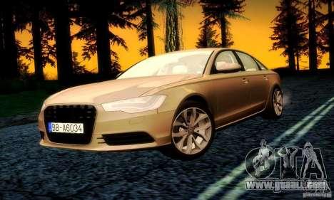 Audi A6 2012 for GTA San Andreas engine