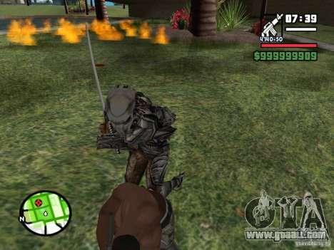 Predator for GTA San Andreas fifth screenshot