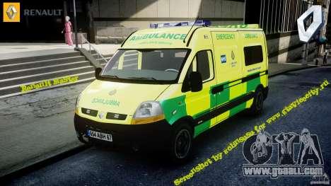 Renault Master 2007 Ambulance Scottish for GTA 4