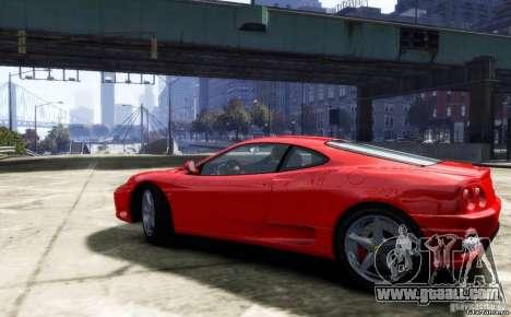 Ferrari 360 modena for GTA 4 back left view