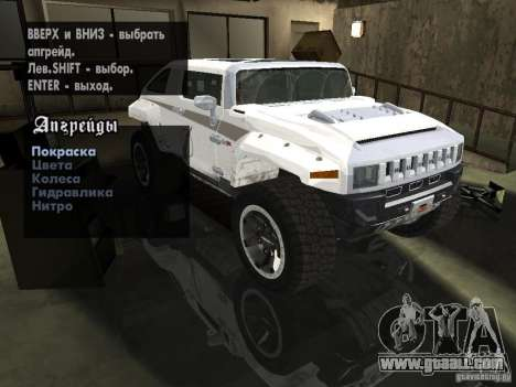 Hummer HX Concept from DiRT 2 for GTA San Andreas side view