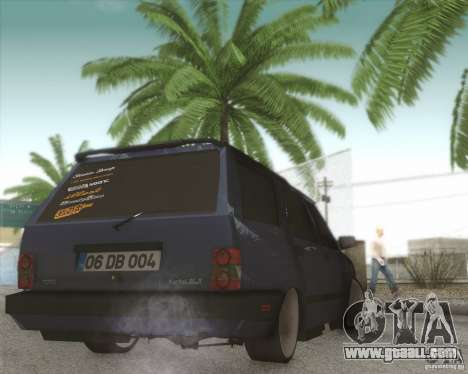 Tofas Kartal SLX for GTA San Andreas back view