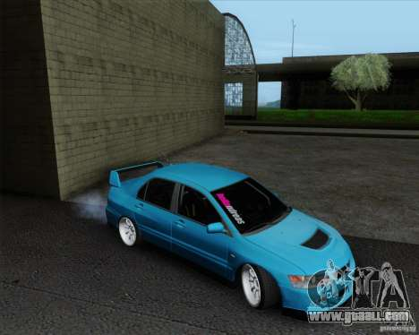 Mitsubishi Lancer Evolution VIII JDM Style for GTA San Andreas back left view