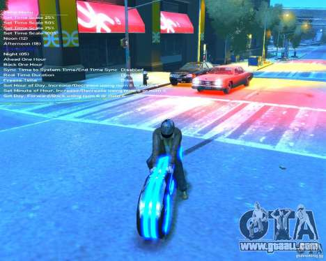 Motorcycle of the Throne (blue neon) for GTA 4 back view