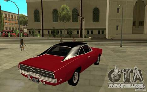 Dodge Charger R/T 1969 for GTA San Andreas right view