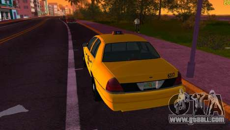 Ford Crown Victoria Taxi 2003 for GTA Vice City right view