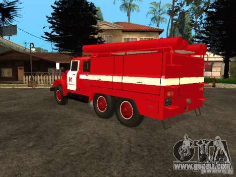 ZIL 131 fire for GTA San Andreas back view