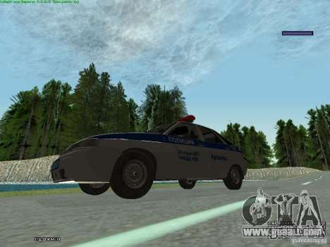 LADA 2112 DPS Police for GTA San Andreas back view