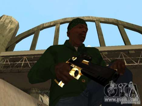 Pak Golden weapons for GTA San Andreas forth screenshot