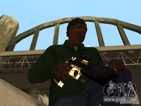 Pak Golden weapons for GTA San Andreas forth screenshot