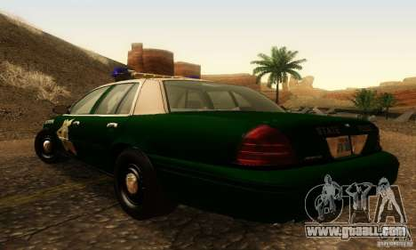 Ford Crown Victoria New Hampshire Police for GTA San Andreas left view