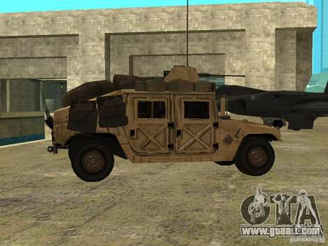 Hummer H1 HMMWV with mounted Cal.50 for GTA San Andreas left view