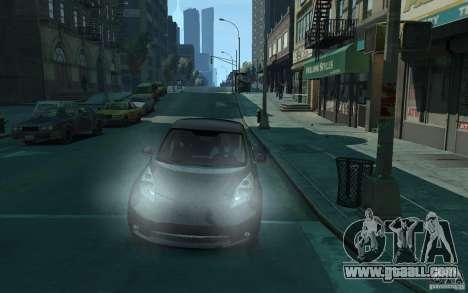 Nissan Leaf 2011 for GTA 4 back view