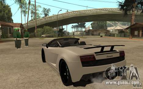 Lamborghini Gallardo LP570-4 for GTA San Andreas back left view