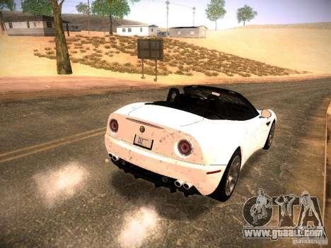 Alfa Romeo 8C Spider 2012 for GTA San Andreas interior